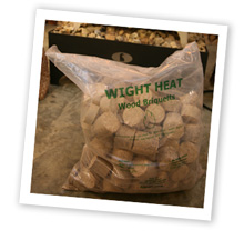 Bag of briquettes